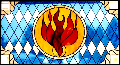 Flame, Babbitt, Minnesota Evangelical Lutheran Church, 2003, Tammy and Kevin Gilmore.