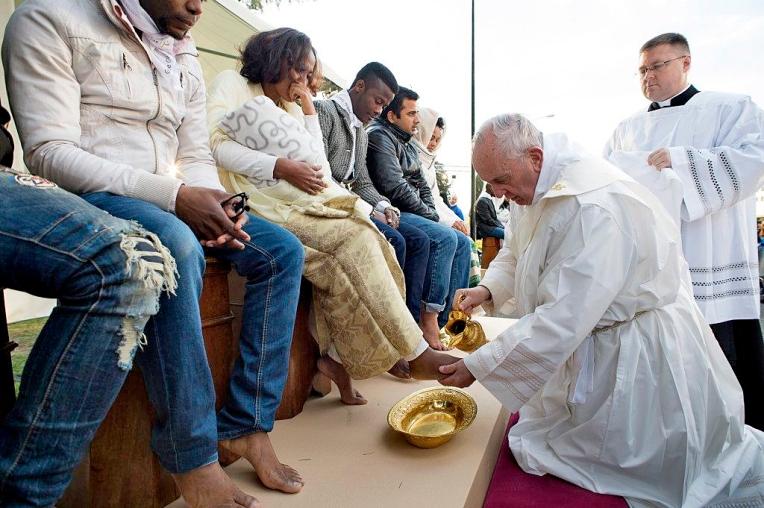 Italy Pope Holy Thursday