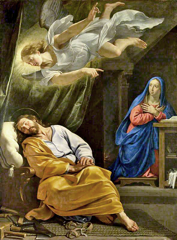 de Champaigne, Philippe, 1602-1674; The Dream of Saint Joseph