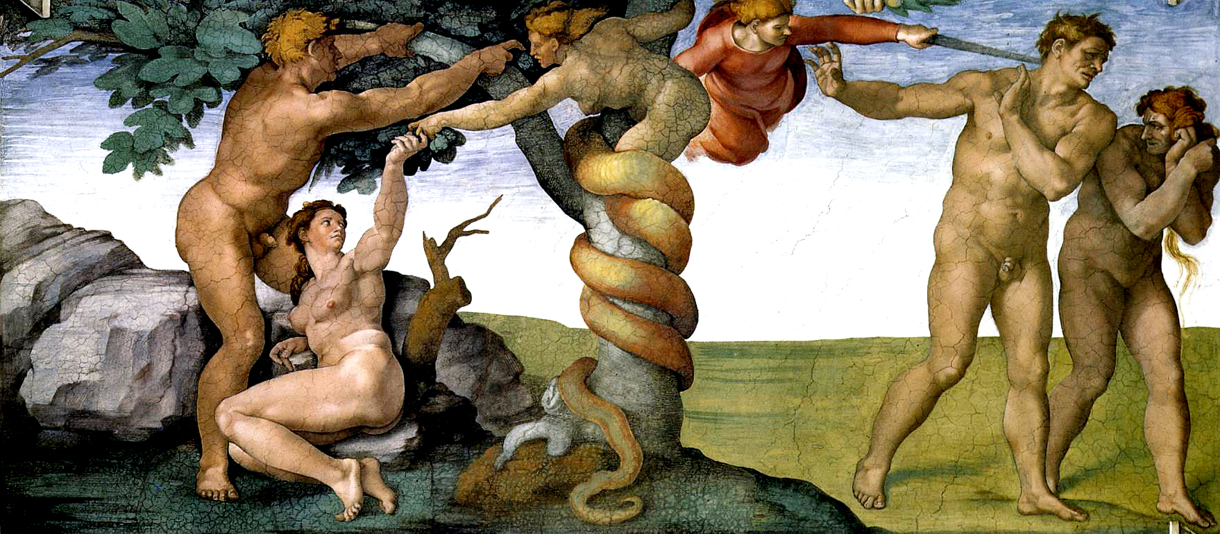Michelangelo,_Fall_and_Expulsion_from_Garden_of_Eden_00