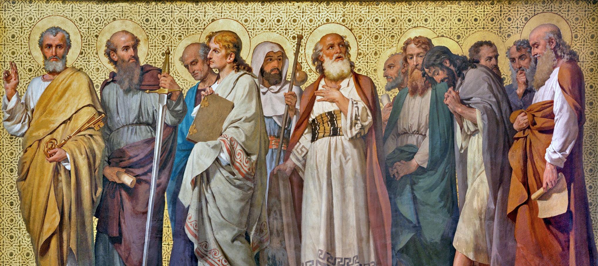 TURIN, ITALY - MARCH 15, 2017: The symbolic fresco of Twelve apo